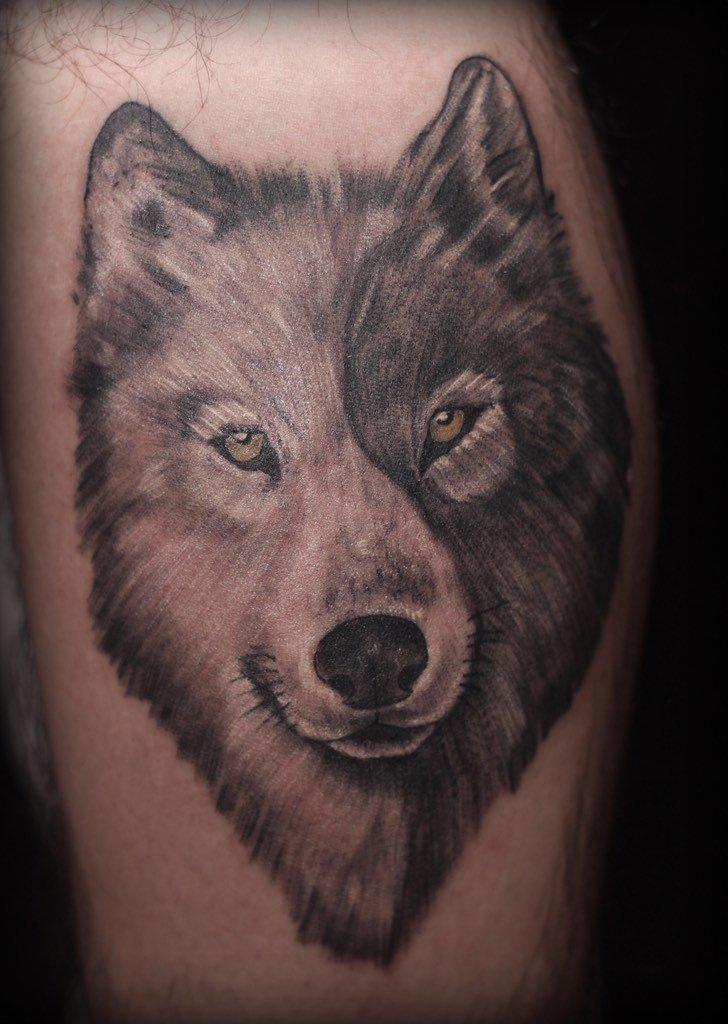 Stevan Marroquin On Twitter Lobo Yin Yang Wolftattoo Tattoo