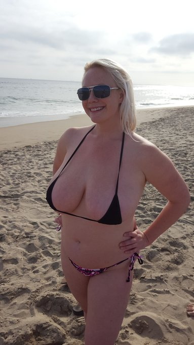 I love to wear sexy #bikinis in public. #tits #bikini #hugetits #MILF #PAWG #NATURALTITS #HUGEBOOBS #boobs