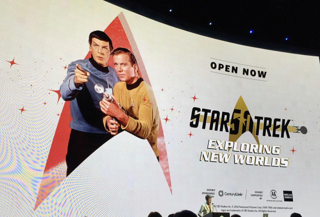 Had an amazing time @EMPmuseum opening of #StarTrek Exploring New Worlds tonight - incredible exhibit!  #StarTrekFan https://t.co/PzvBPBBZEG