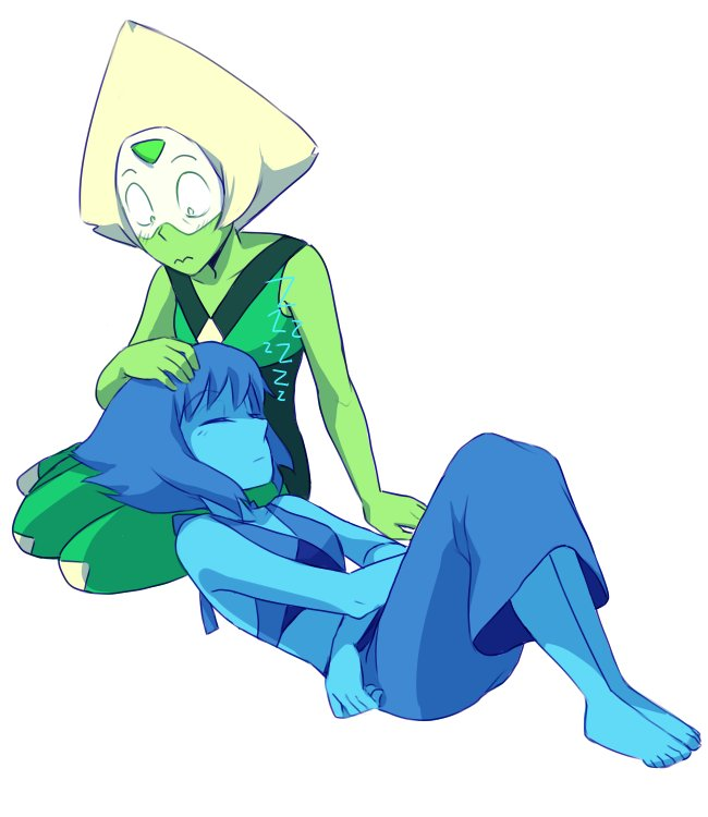 """Petting your gem may cause drowsiness #Lapidot #BarnMates  #StevenUniverse #InTooDeep :P"""