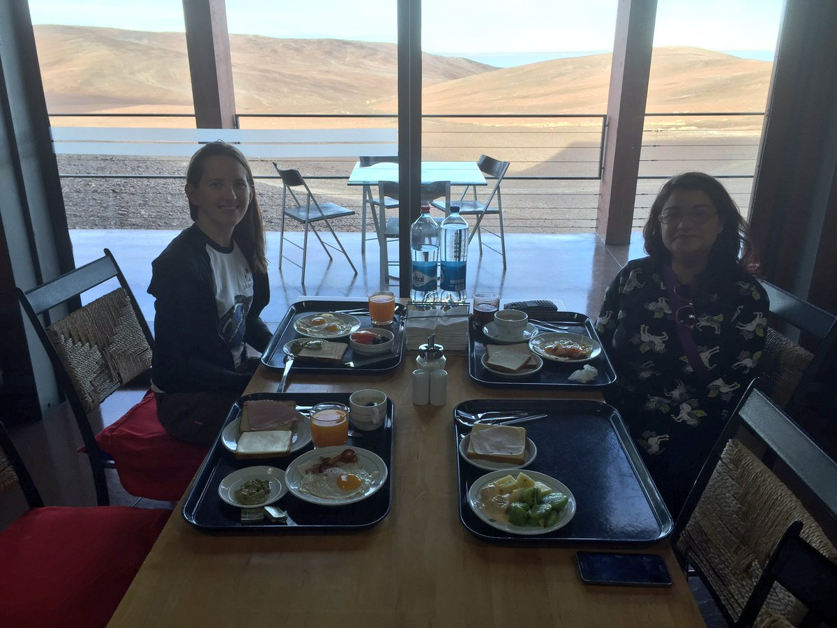 Breakfast with a view. And with @Jane_MacArthur and @Lornibaby. #MeetESO https://t.co/eTZIrsq7rw