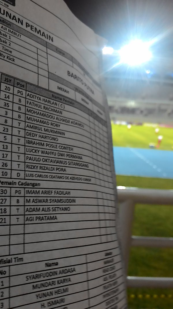 @BaritoUpdate May 9 South Borneo, Indonesia View translation Line Up BARITO PUTERA Vs Mitra Kukar. #BaritoDay