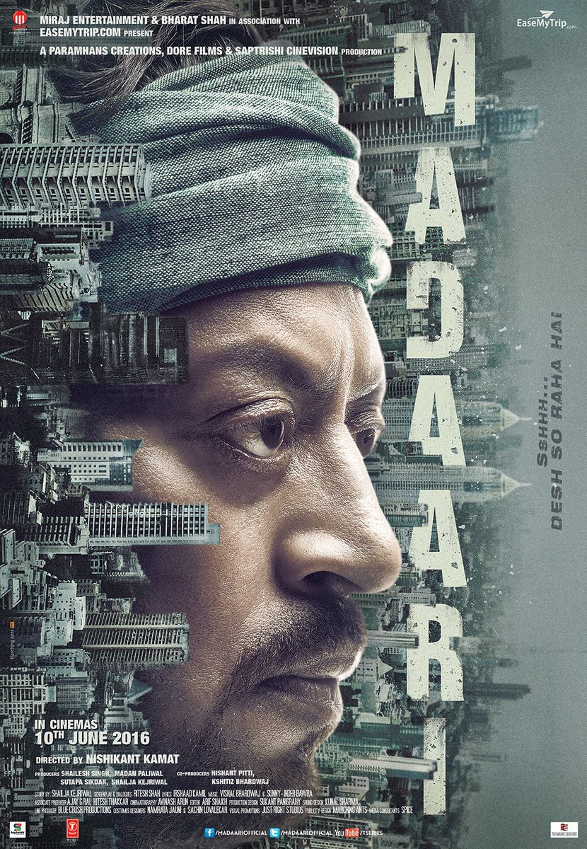 First Look Poster of Madaari starring Irrfan Khan