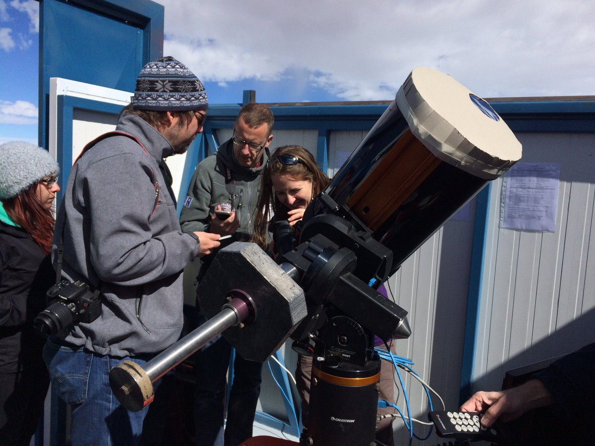 "This morning we got to see the #mercurytransit with UT5, a 11"" amateur telescope located at #Paranal #MeetESO https://t.co/Wv0c2gIpO2"