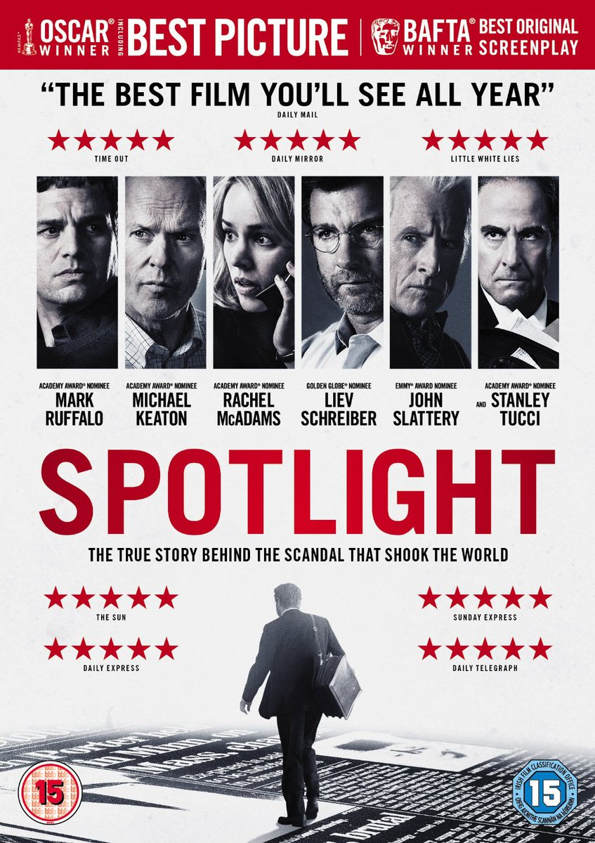 Win a copy of #Spotlight on DVD. Just retweet this tweet and follow us to enter. #Competition https://t.co/hU4dRayHqu
