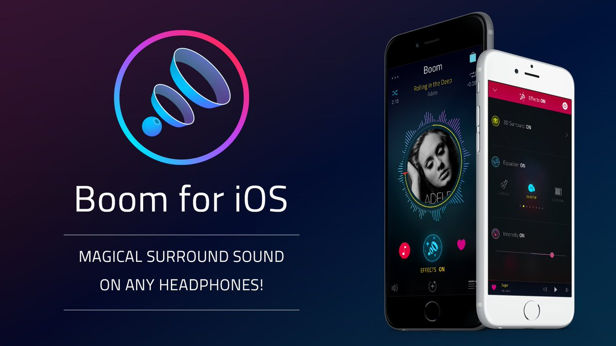 Boom for iOS brings magical surround sound and much more to ANY headphones!  https://t.co/wc2JGj8RJv https://t.co/JqMrPgb33g