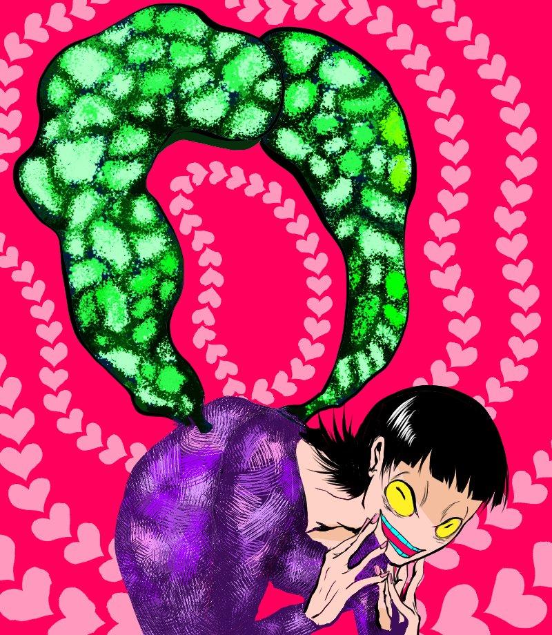 #フォロワーさんのイラストを自分の絵柄でリメイクする @nijyou1 てこさんの刺繍をぬりぬり!!あの毒毒しさ難しい!!!!!大好き!!!!!!!!🔪🔪🔪🔪🔪🔪🔪🔪🔪🔪🔪🔪🔪🔪🔪