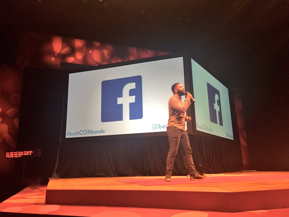 """We are more connected to people and ideas that we don't care about than ever before."" - @baratunde #bushCON https://t.co/jWQUCTdz3j"