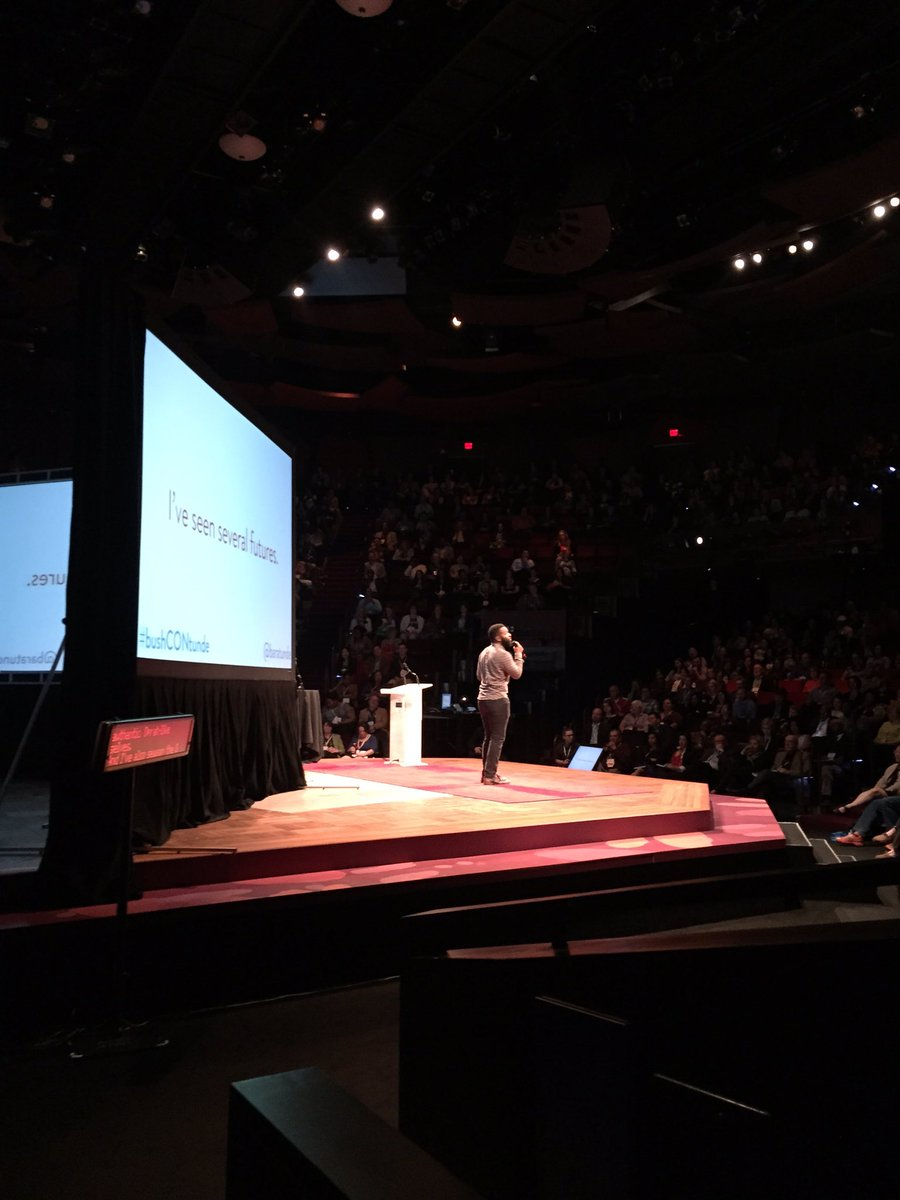 Stakes are high. I'm here to cheer you on bc you're already doing it. Civic Engagement! #bushCON #bushCONtunde https://t.co/CxEG4amkDg