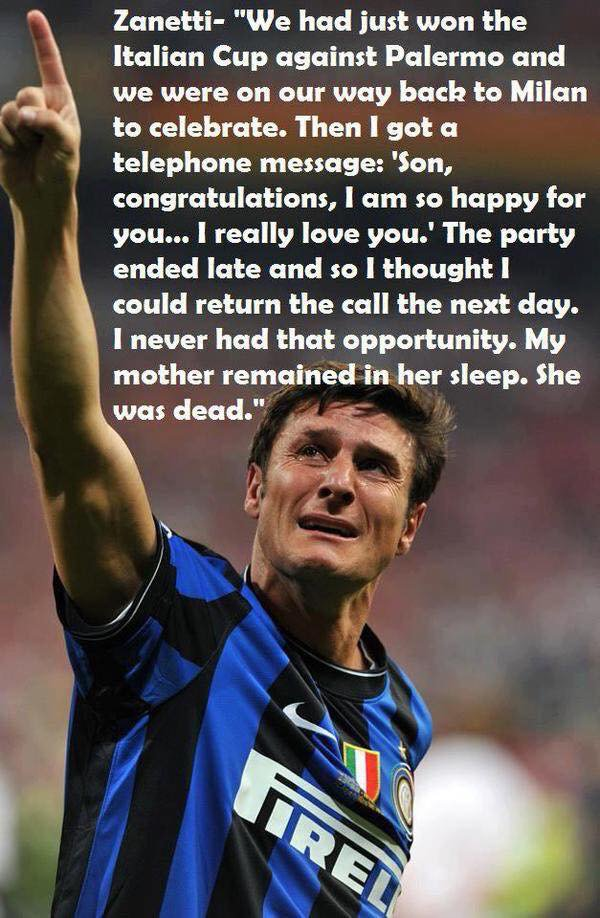 Javier Zanetti : sad story Javier Zanetti mother | Scoopnest