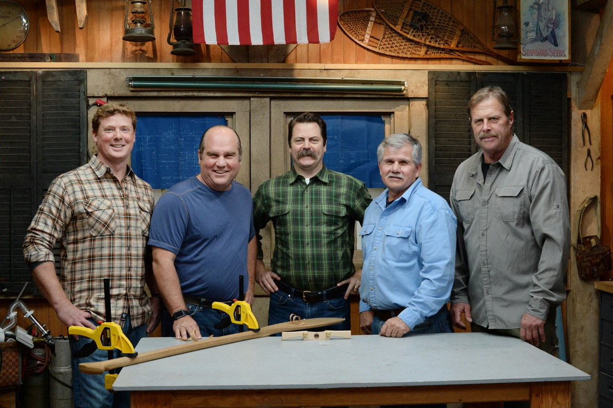 No. Way. The guys from @AskTOH welcome @Nick_Offerman to the set on Thursday @ 7! https://t.co/X7fLPKE1y8 https://t.co/L0Ai8NFSor