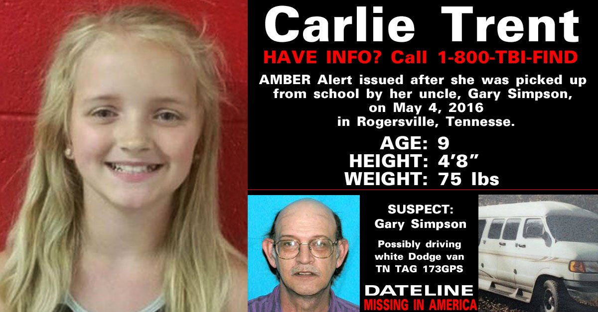 The search continues for missing Tennessee girl Carlie Trent. Can you...