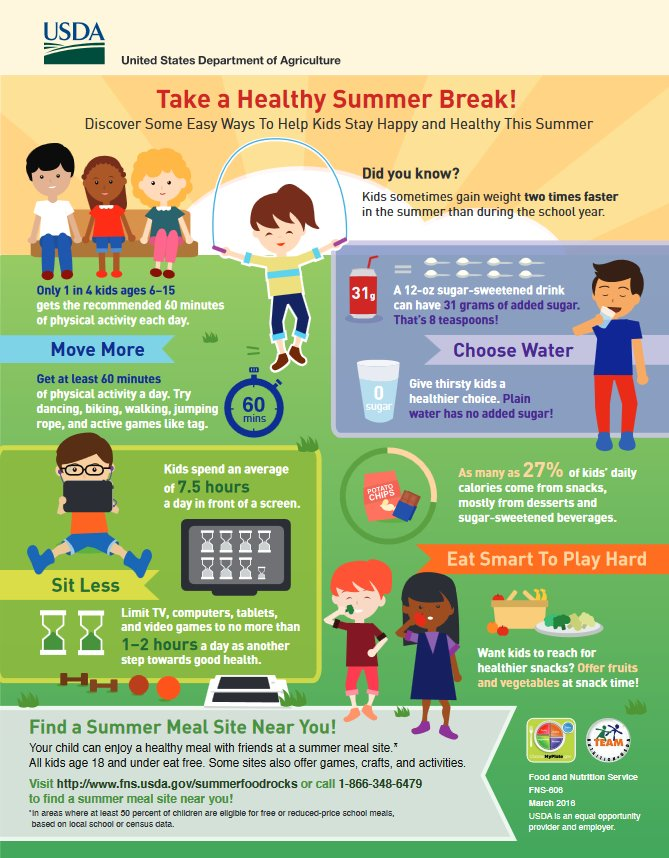 Help kids take a healthy summer break by sharing this infographic w/ families https://t.co/uQ7FC6XcTg  #PTA #PTO https://t.co/tT5srb3plB