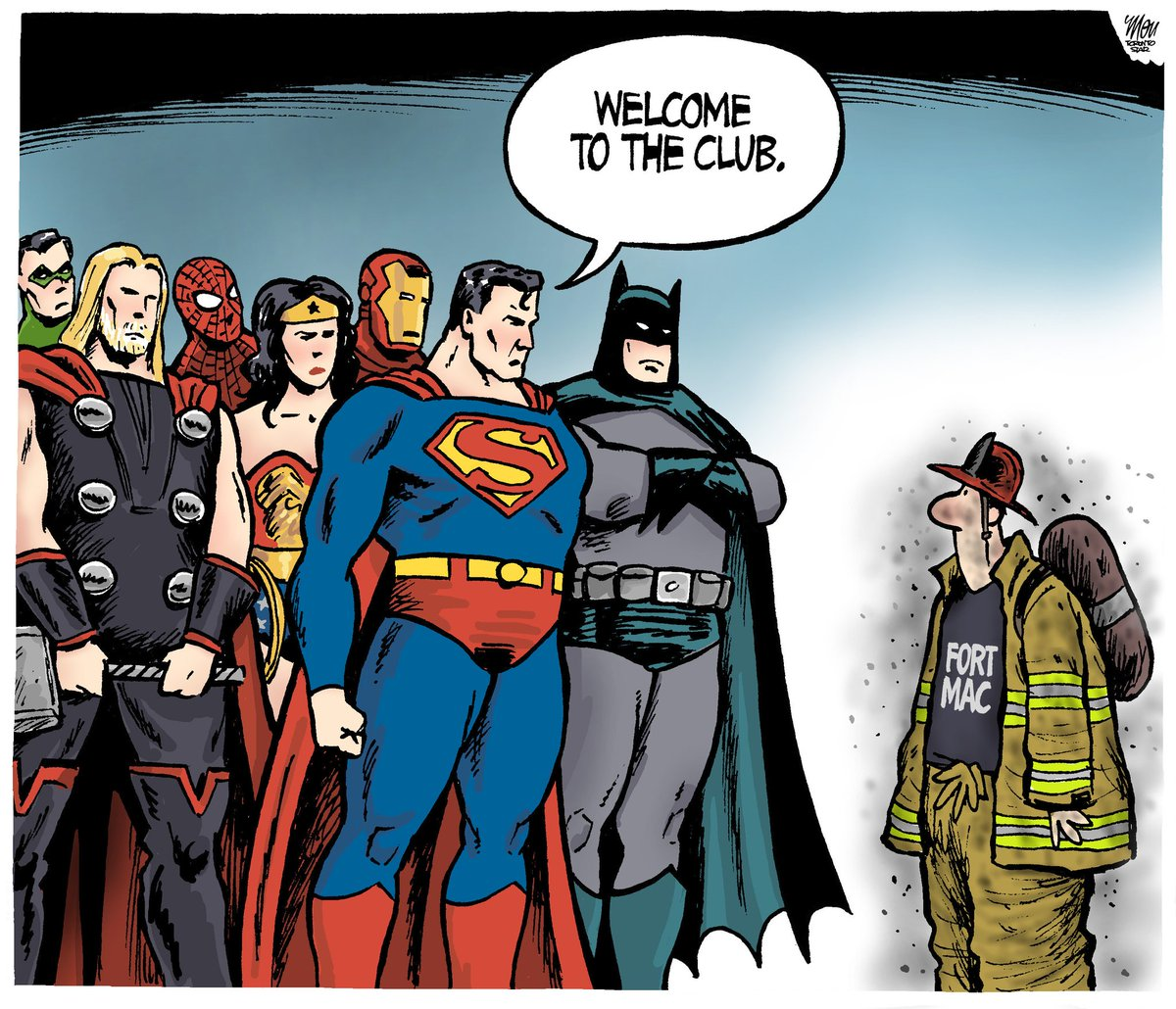 'Superheroes' is Tuesday's #FortMcMurray  cartoon in @TorontoStar