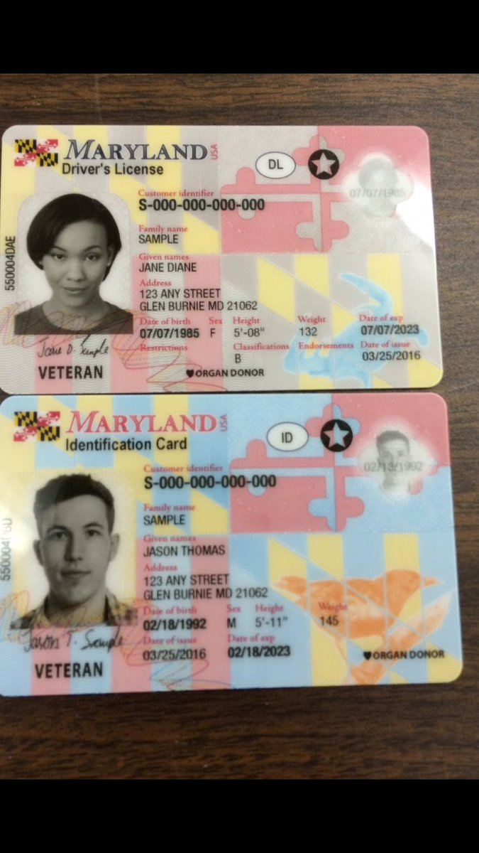 Here are your new @MD_MVA drivers licenses and Id. No longer issued at mva. Mailed to you. https://t.co/1OANF5NNIZ