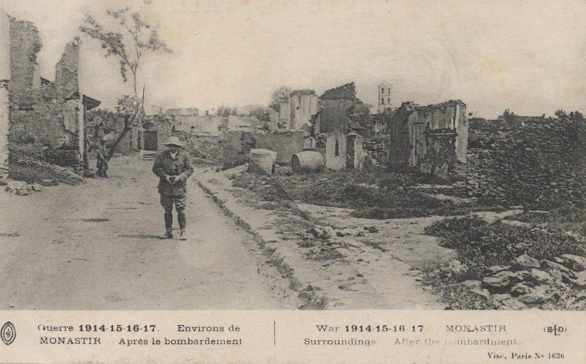 Bitola se retrouve ainsi sur le front.  Bombardée presque quotidiennement, elle sort de la guerre presque détruite. https://t.co/NYs9bA76nn