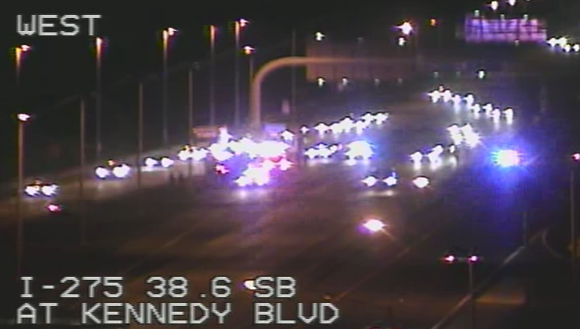 Police: Motorcyclist injured in I-275 shooting in Tampa – Story