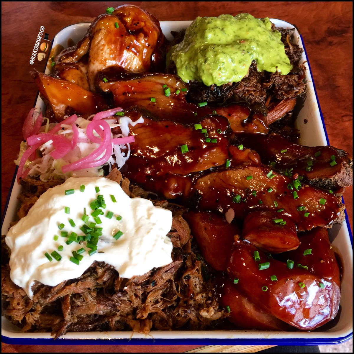 Hulksmashfood On Twitter The Slow Smoked Bbq Meat Platter From The Bbq Joint In Croydon South P Instagram Hulksmashfood