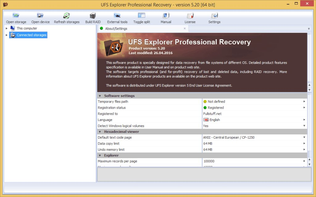 ufs explorer professional recovery serial