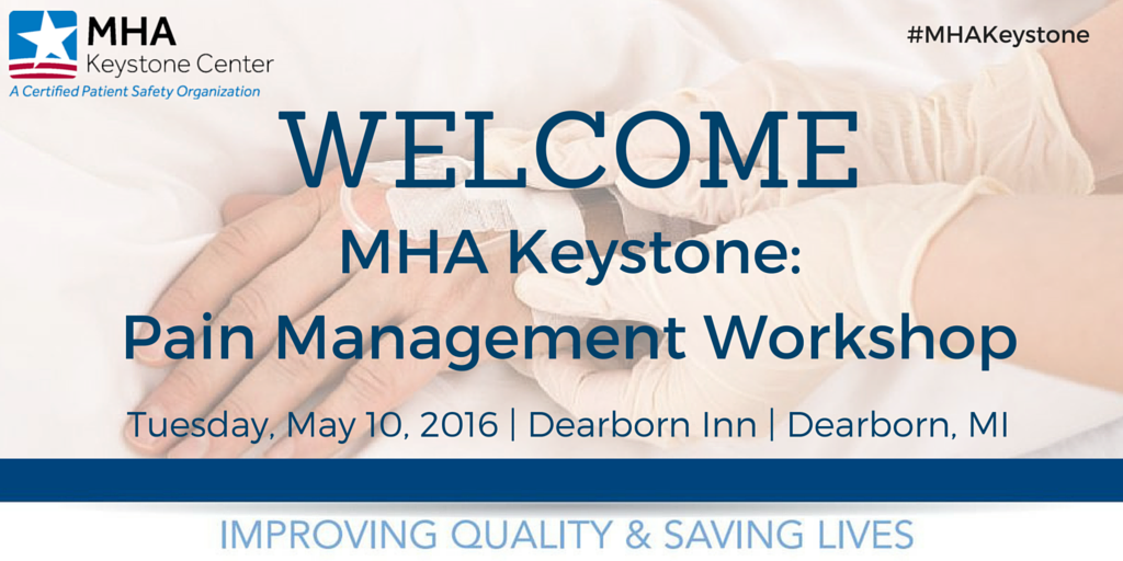 We are 'live' #Tweeting today from our #PainManagement Workshop! Join us using hashtag #MHAKeystone! #HospitalWeek https://t.co/SihnLvZV6D