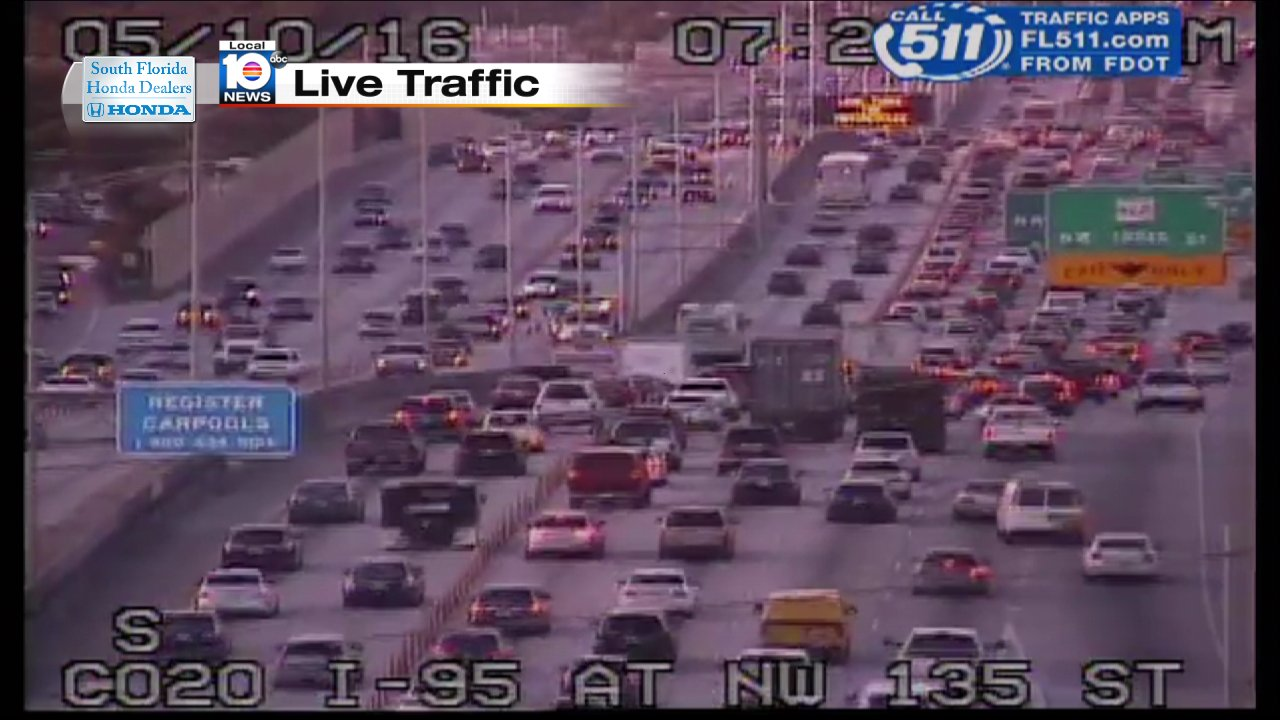 Wplg Local 10 News On Twitter Broken Down Ca Ron I 95 Nb And Nw 135th St Express Lanes Traffic Mi