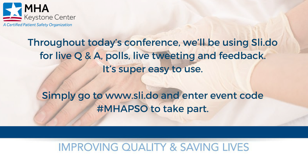 We are using Sli.do during today's event to take questions & for event polling. See details below. #MHAKeystone https://t.co/oj04HVayfG