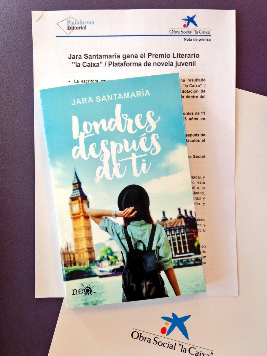 Jara Santamaría gana el Premio La Caixa / Plataforma con #LondresDespuésDeTi @PlataformaNeo @FundlaCaixa @jarasance https://t.co/ryKIqio3Ru