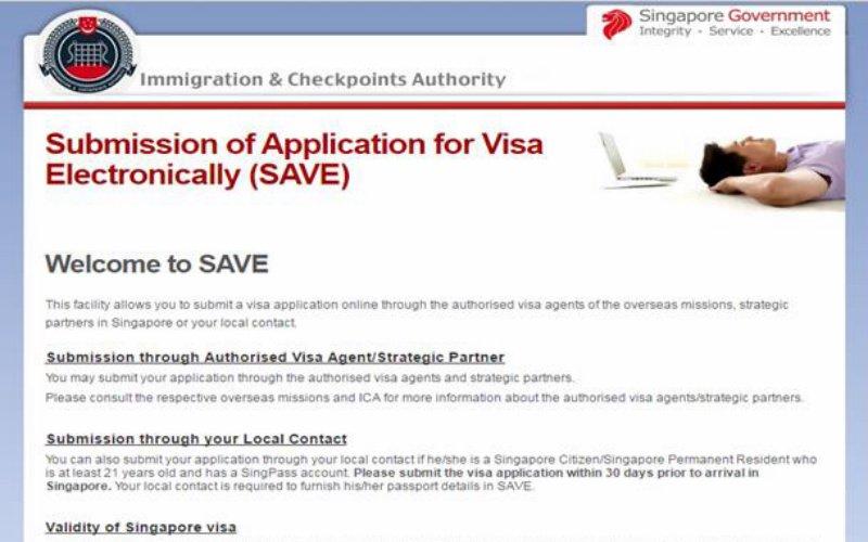 Singapore visa official website