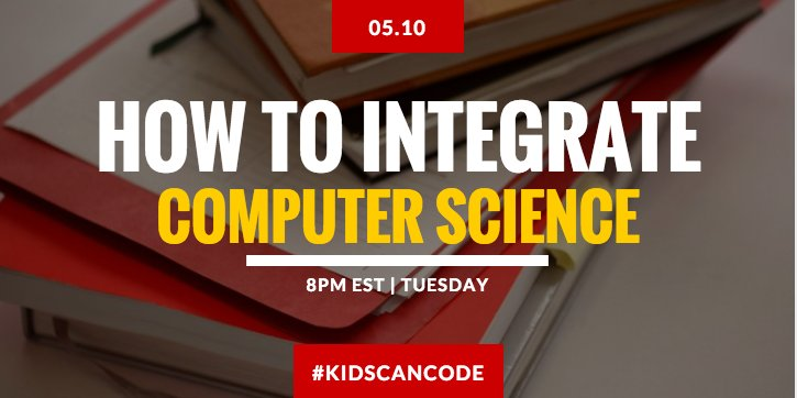 What language to learn? What concepts to cover? Join #kidsCanCode for CS integration #Hourofcode #5thchat #STEMChat https://t.co/sLuOdUpo5d