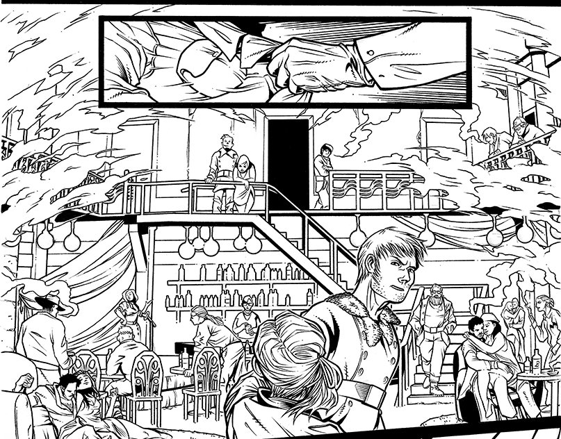 The inked version of the 3D room I just posted :) #makingcomimcs #indiecomics #AnneFranknStein