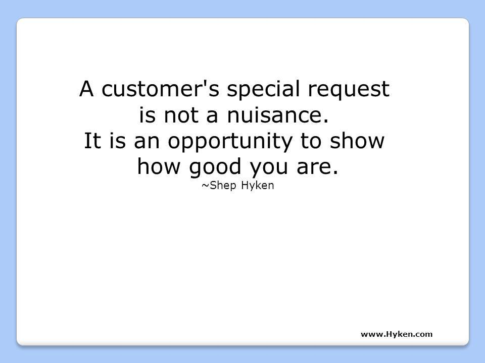 A customer's special request isn't a nuisance. It's an opportunity to show how good you are. #entrepreneur https://t.co/YXNQeJKLHd