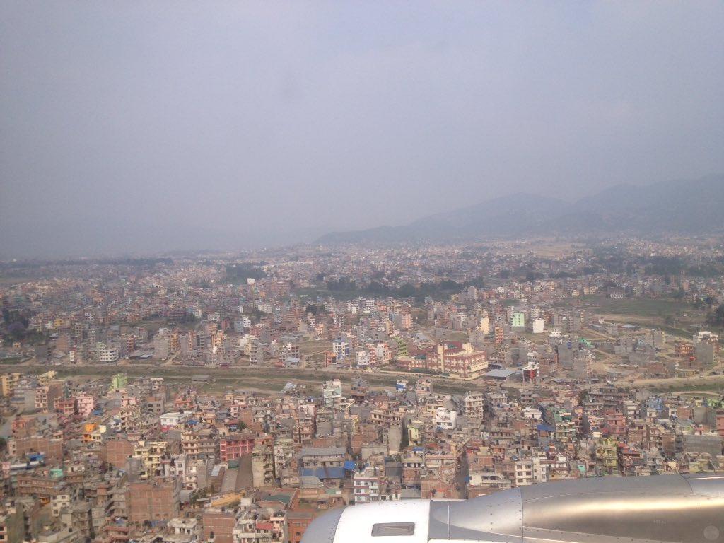 आकाशबाट देखिएको काठमाण्डौं #kathmandu from the sky view #Ra206