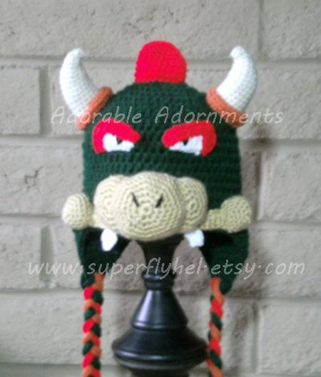 Adorable Adornments On Twitter Bowser Hat Crocheted Bowser Beanie