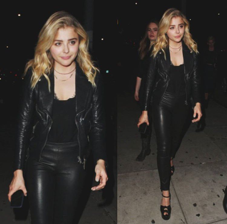 Double Take: @chloegmoretz does it again in our Edita Leather Legging.   #InMyJBRAND #LittleBlackJean #ChloeMoretz https://t.co/RGgnCMI0ar
