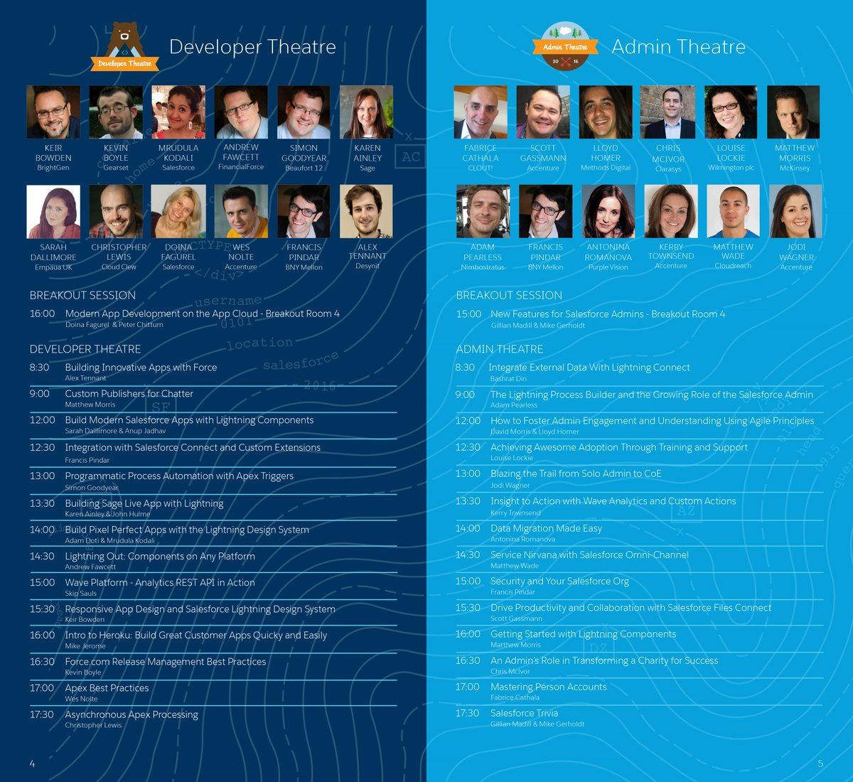 The Salesforce World Tour agenda