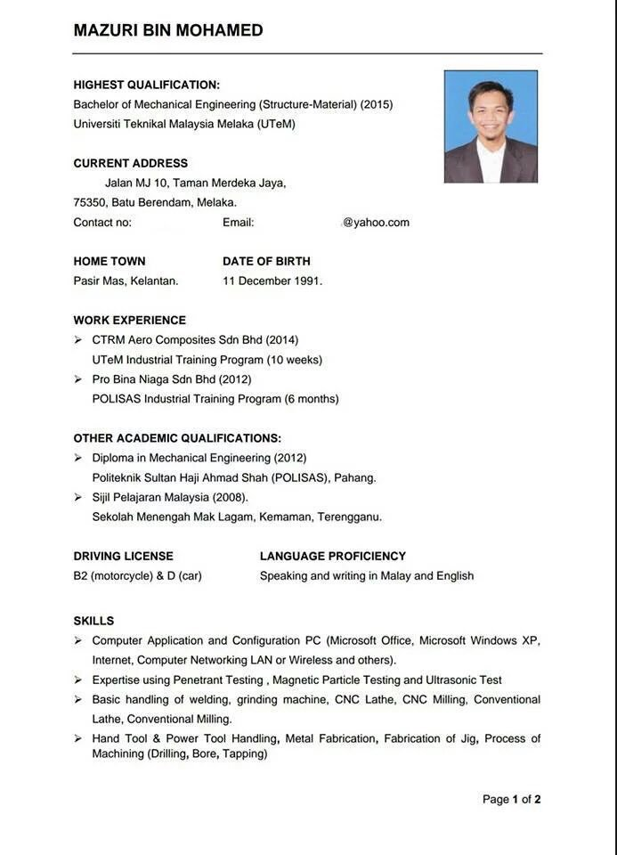 selangorian admin on twitter ni contoh resume untuk rujukan