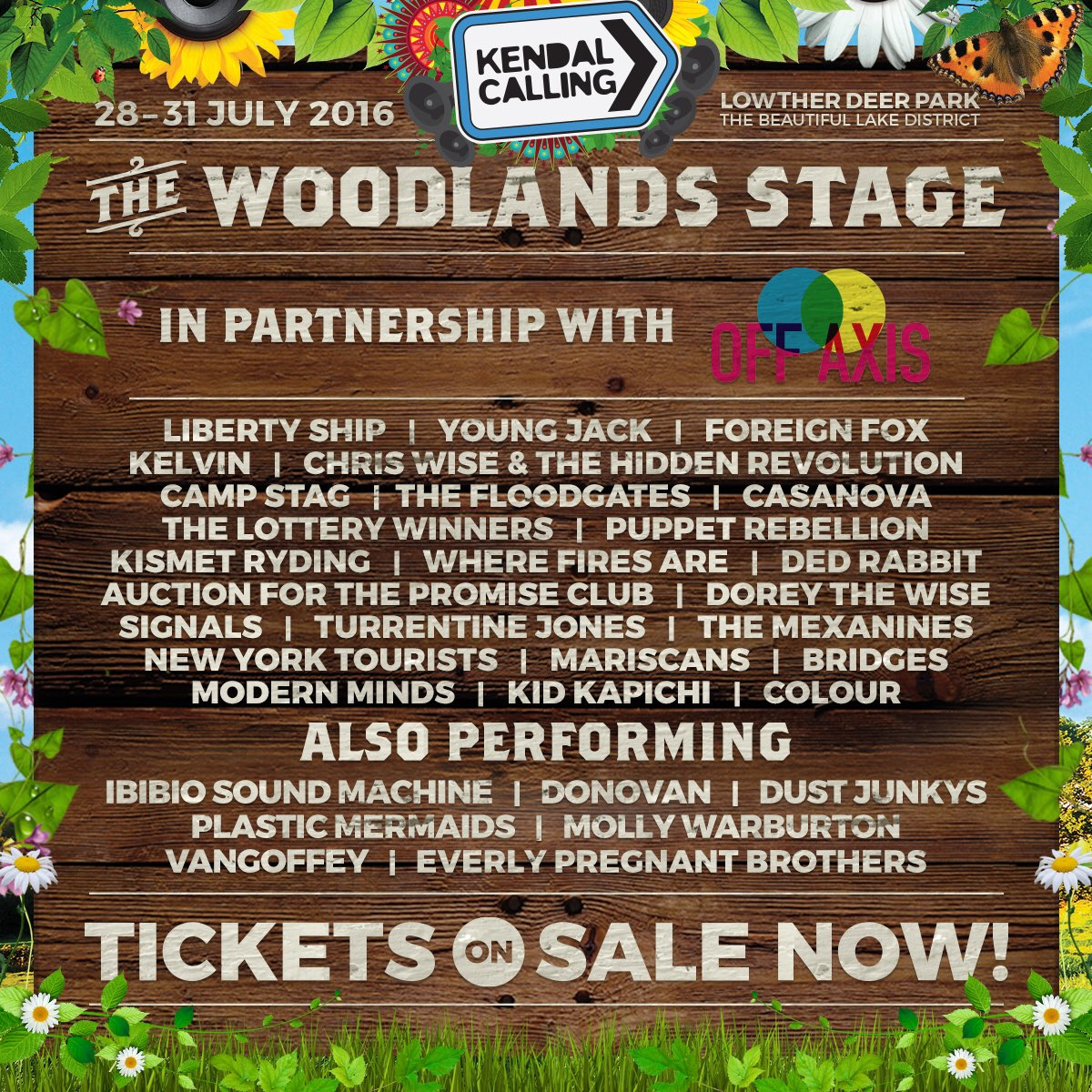 We're delighted to be part of the @OffAxisNetwork stage at this years @KendalCalling, check out the line up here... https://t.co/6VNMXgWoIy