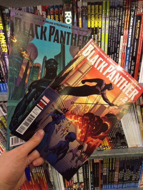 Black Panther issue 1 reprint and issue 2 out tomorrow, from @Marvel, @tanehisicoates + @Stelfreeze + Laura Martin.. https://t.co/C019XHvuhP