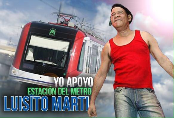 """Te invito apoyar que una de las estaciones del Metro lleve el nombre de """"El Rey de la Risa"""": Luisito Martí . https://t.co/RZruoaaRYU"""