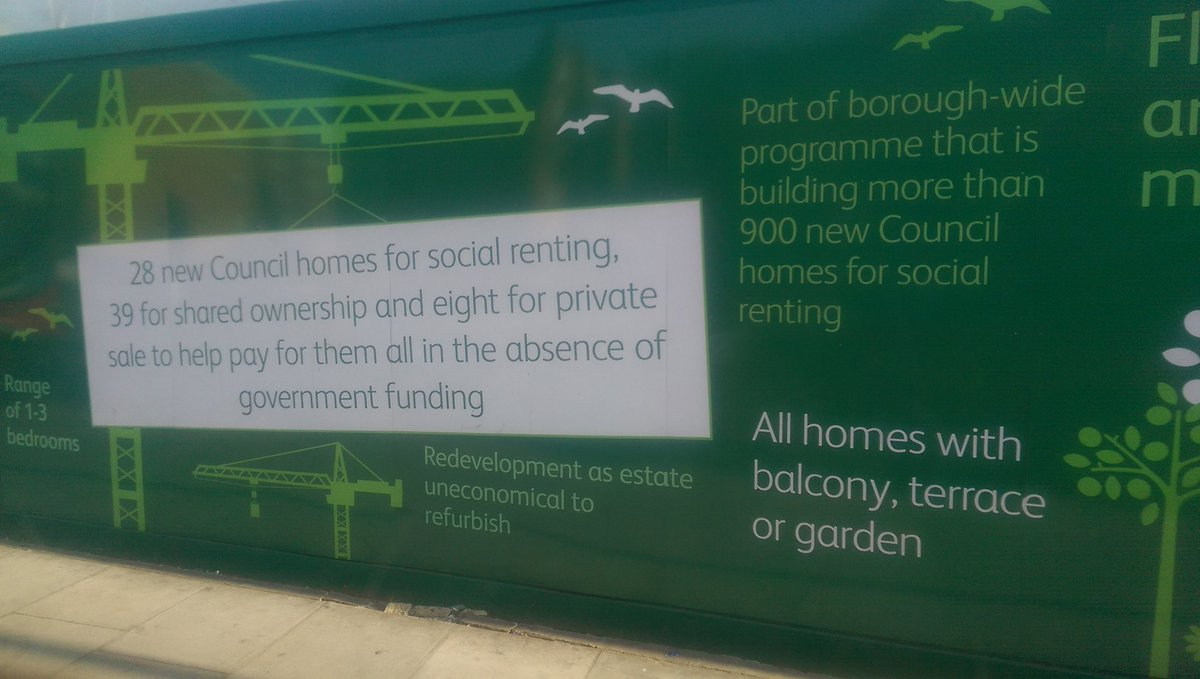 Enjoyable billboard from Hackney Council throws shade at the government for failing to fund social housing https://t.co/sH8QHSDeIB