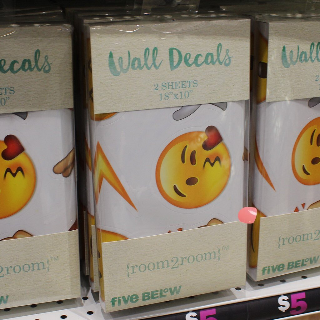 Five Below On Twitter Emoji Wall Decals Are Just That - Emoji wall decals