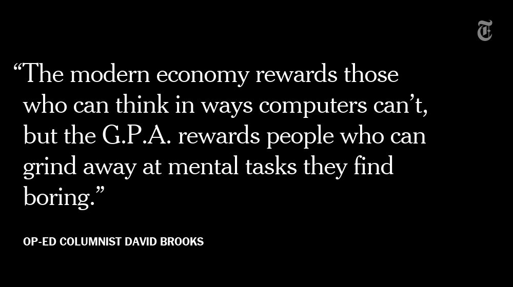Putting Grit In Its Place >> The New York Times On Twitter David Brooks Putting Grit In Its