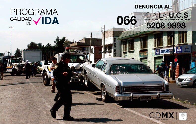 """programa de retiro de vehiculos en california SSP CDMX on Twitter: """"Puedes reportar autos abandonados a los ..."""