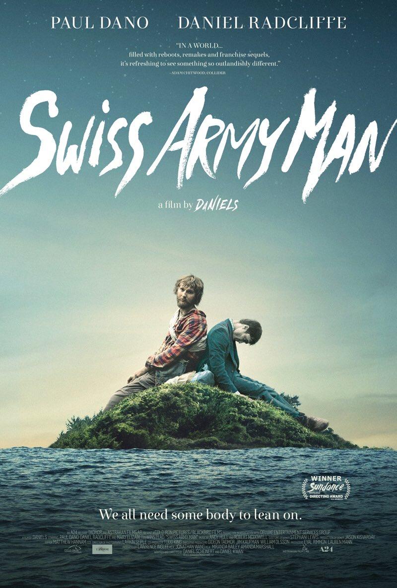 """ポール・ダノが漂流先で放屁するダニエル・ラドクリフ君の死体と仲良くなる映画、""""Swiss Army Man""""は前も話題になっていたけど本当に面白そうですよね。この作品、評判も良いんですよ。"""