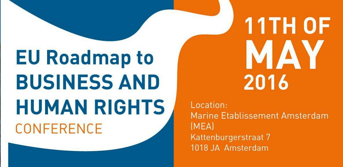 It's today! #EU #bizhumanrights conf. Live @ eu-roadmap.nl. Join tweeter debate w/ #EU4HumanRights! @EU2016NL https://t.co/bWklIdQvqC