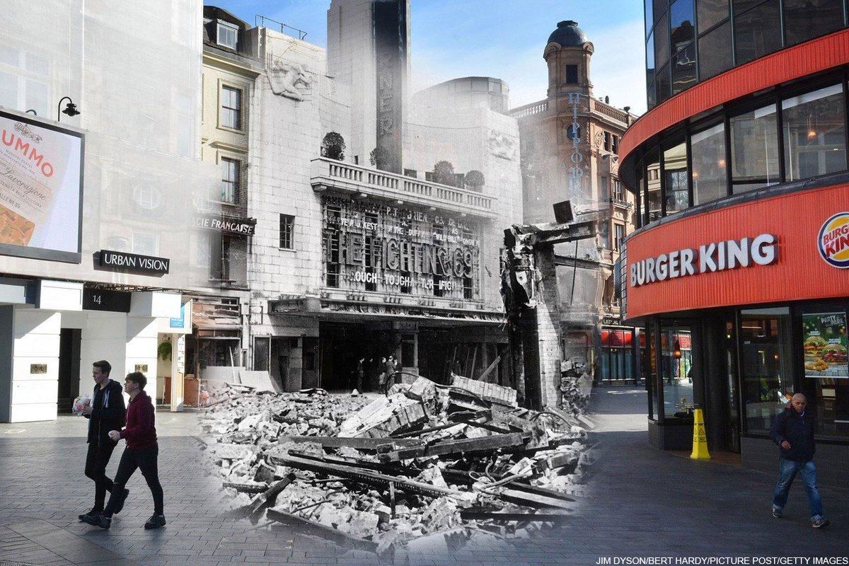 ロンドン空襲から75年 爆撃後の写真を今に重ねると【写真】 第二次大戦 ...