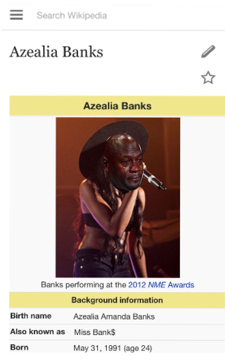 "Amanda Page Real Name crystal marie fleming on twitter: ""azealia banks' wikipedia"