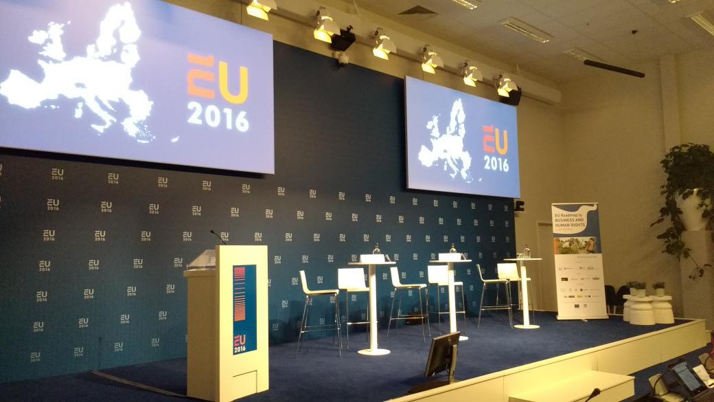 Good morning from #Amsterdam! Excited abt #EU4HumanRights #BHR conf! @MVOplatform  @SOMO  @GillesGoedhart  @EU2016NL https://t.co/k7LsycaLlm