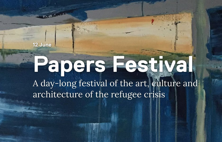 A festival of the art, culture and architecture of the reufugee crisis.   @LFArchitecture https://t.co/cKCCPVizPq https://t.co/AGwRvrhsOz