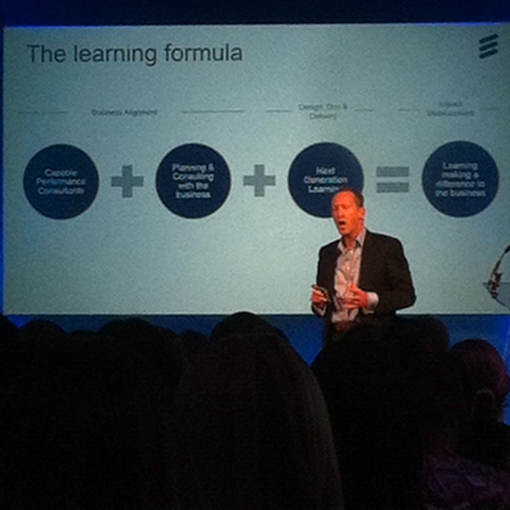 Peter shares the @ericsson  #learning formula in A3 to effectively align L&D to #business #cipdldshow https://t.co/guScxr7zam